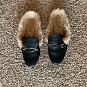 Furry mules